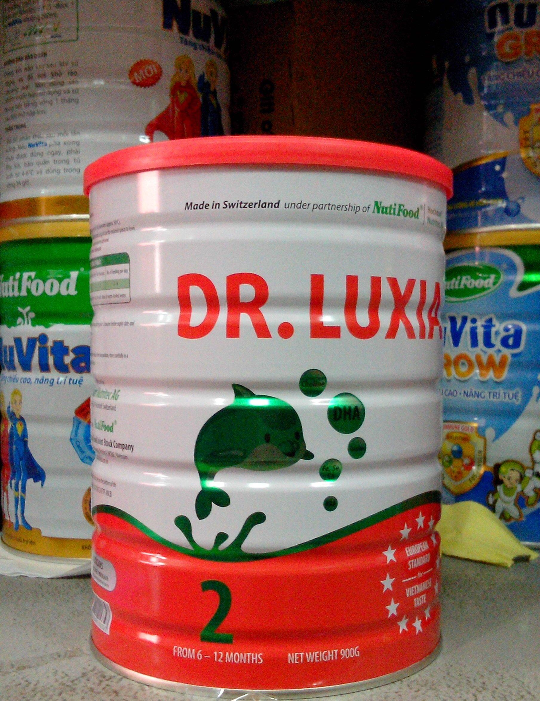 Sữa bột Nutifood DR.Luxia 2 - hộp 900g (dành cho trẻ 6 - 12 tháng)
