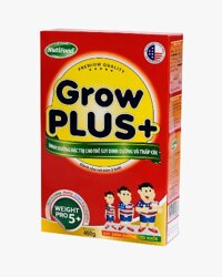 Sữa bột Nutifood Grow Plus + Suy dinh dưỡng - hộp 400g (hộp giấy dành cho trẻ từ 1 tuổi trở lên bị suy dinh dưỡng)