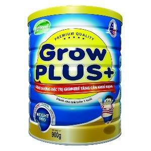 Sữa bột Nutifood Grow Plus + tăng cân - hộp 900g (dành cho trẻ em từ 1 tuổi trở lên bị thiếu cân)