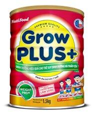 Sữa bột Nutifood Grow plus+ suy dinh dưỡng - 1.5kg (dành cho trẻ suy dinh dưỡng và thấp còi)