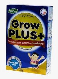 Sữa bột Nutifood Grow Plus + tăng cân - hộp 400g (dành cho trẻ em từ 1 tuổi trở lên bị thiếu cân)