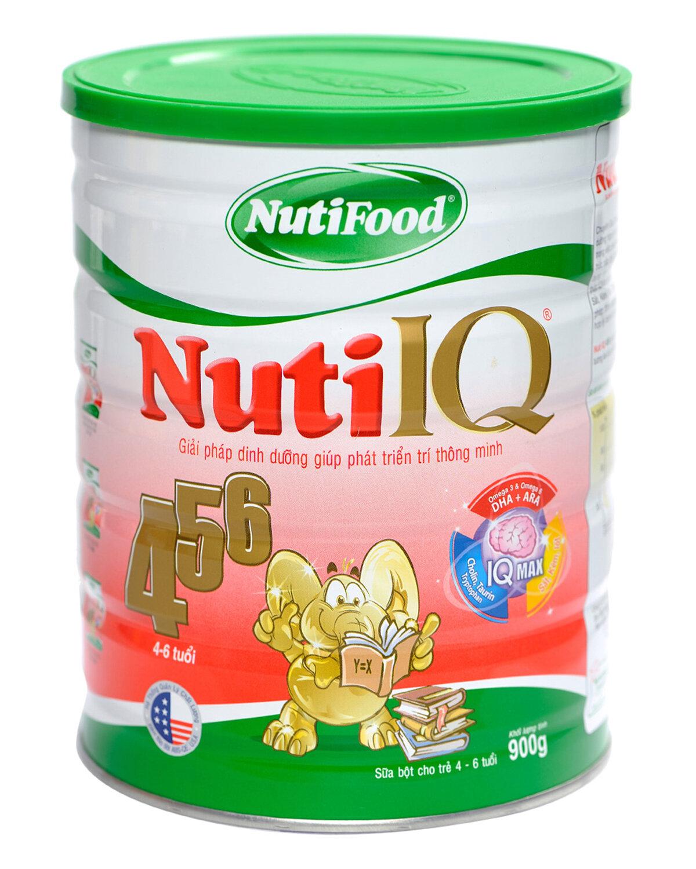 Sữa bột Nutifood Nuti IQ 456 - hộp 900g (dành cho trẻ từ 4 - 6 tuổi)