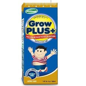 Sữa bột pha sẵn Nuti Grow Plus xanh - 110 ml (Thùng 48 hộp)