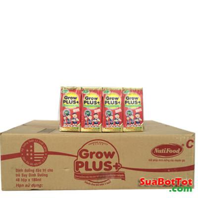 Sữa bột pha sẵn Nuti Grow Plus đỏ 180ml/hộp (48 hộp/thùng) ...