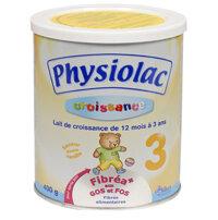 Sữa bột Physiolac 3ER - hộp 400g