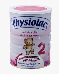 Sữa bột Physiolac số 2 - hộp 900g (dành cho trẻ từ 6 - 12 tháng)