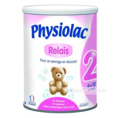 Sữa bột Physiolac số 2 - hộp 400g (dành cho trẻ từ 6 - 12 tháng)