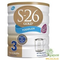 Sữa bột S-26 Gold Toddled 3 - hộp 900g (dành cho trẻ từ 1 - 3 tuổi)