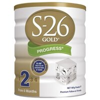 Sữa bột S26 số 2 - 900g, 6 đến 12 tháng