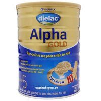 Sữa bột Vinamilk Dielac Alpha Gold Step 5 900g