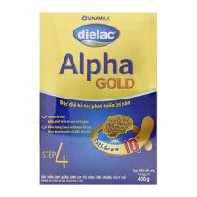 Sữa bột Vinamilk Dielac Alpha Gold Step 4 - 400g (từ 2 - 4 tuổi)