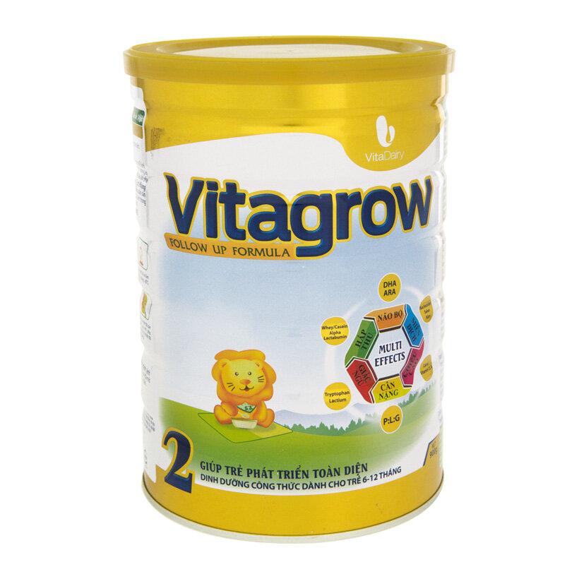 Sữa bột VitaDairy Vitagrow 2 - hộp 900g (dành cho trẻ từ 6-12 tháng tuổi)