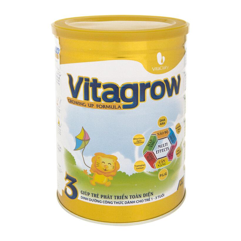 Sữa bột VitaDairy Vitagrow 3 - hộp 900g (dành cho trẻ từ 1-3 tuổi)