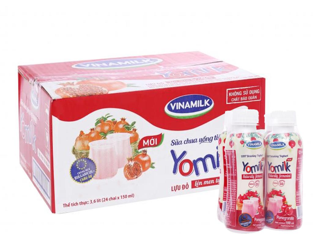 Sữa chua uống Vinamilk – Thùng 24 chai 150ml