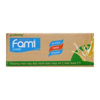 Sữa đậu nành Fami canxi Vinasoy thùng 40 gói x 200ml