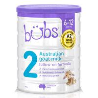 Sữa dê Bubs Úc số 2 800g (6 - 12 tháng)