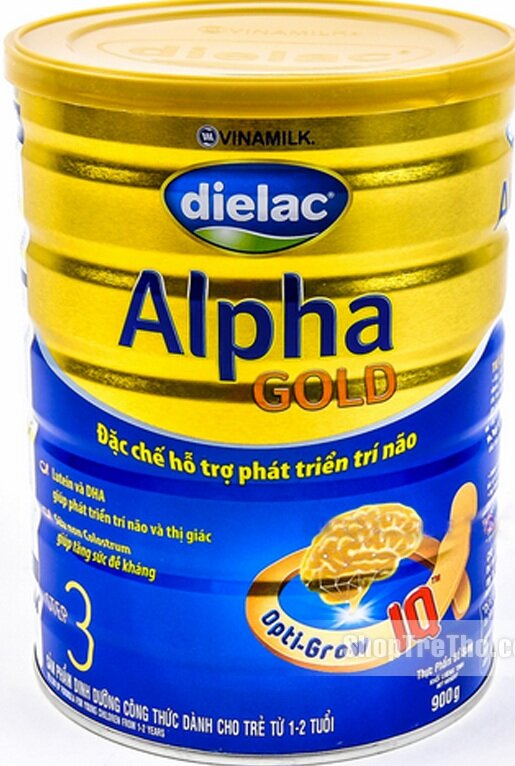 Sữa Dielac Alpha Gold Step 3 - hộp 900g (dành cho trẻ từ 1-2 tuổi)