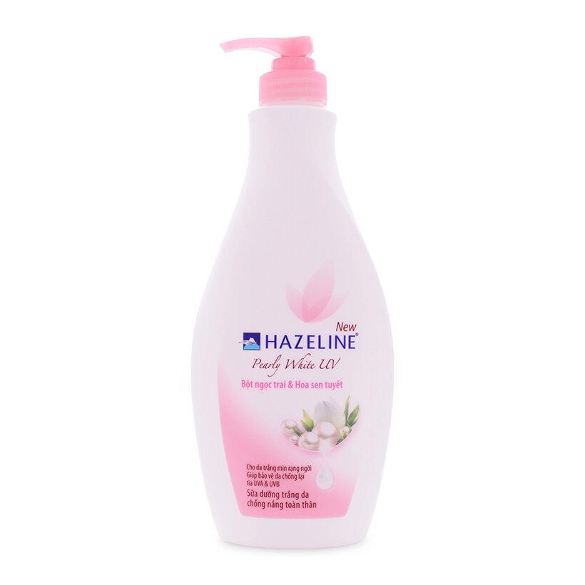 Sữa dưỡng thể trắng da chiết xuất ngọc trai Hazeline Pearly White UV 370ml
