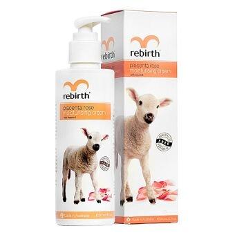 Sữa dưỡng thể với chiết xuất nhau thai cừu Re-Brith Placenta Rose Moisturising Cream 200ml