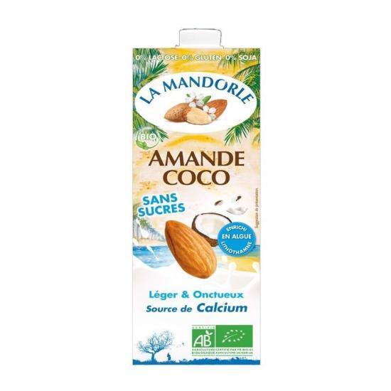 Sữa hạnh nhân dừa hữu cơ La Mandorle 1L