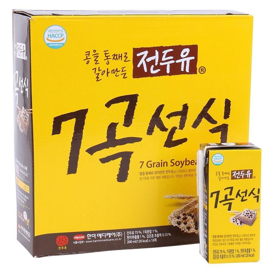 Sữa Hanmi Hàn Quốc nhiều hương vị (thùng 16 hộp x 200ml)