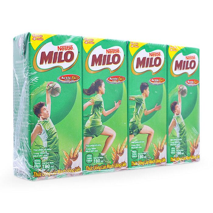 Sữa Milo nước 180ml Thùng (48 hộp)