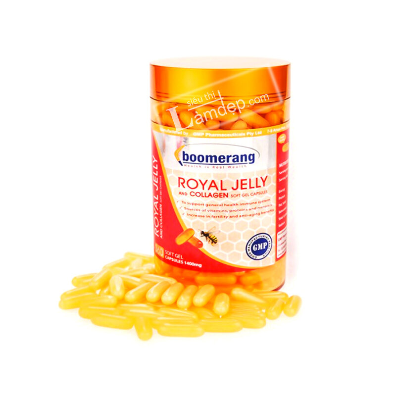 Sữa Ong Chúa Boomerang Royal Jelly and Collagen - 120 Viên