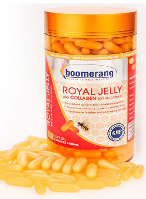 Sữa ong chúa Boomerang Royal Jelly and Collagen - 360 viên