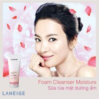 Sữa rửa mặt dưỡng ẩm Foam Cleanser Moisture 180ml