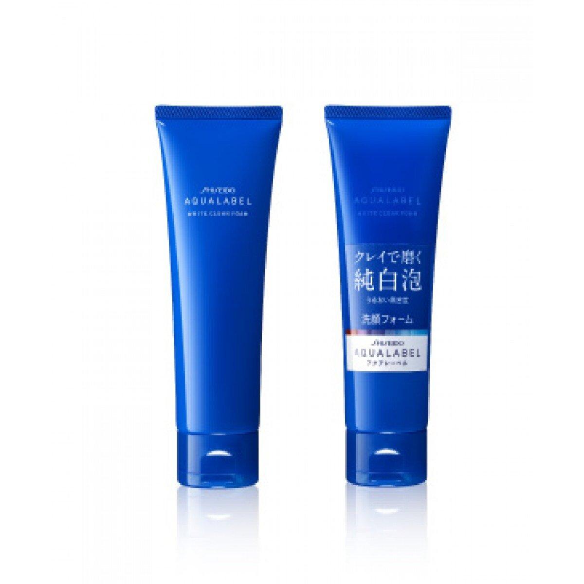 Sữa rửa mặt làm trắng da Shiseido Aqualabel White Clear Foam cho da dầu & hỗn hợp