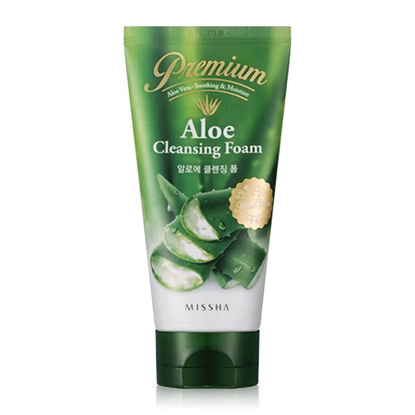 Sữa rửa mặt lô hội Missha Premium Aloe Cleansing Foam 130ml