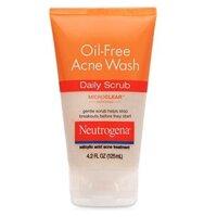 Sữa rửa mặt Neutrogena Oil Free Acne Wash Daily Scrub 125ml