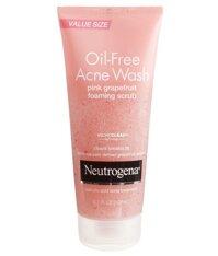 Sữa rửa mặt Neutrogena Oil-Free Acne Wash Pink Grapefruit Foaming Scrub 198ml