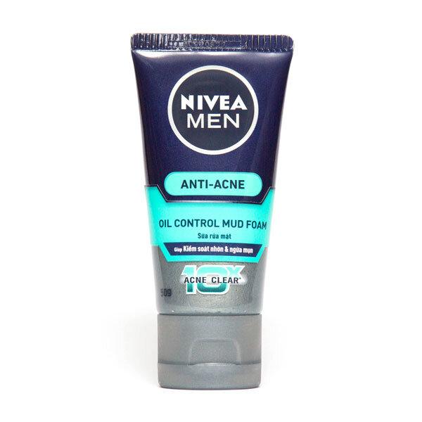 Sữa rửa mặt Nivea Men Anti Acne Oil Control Mud Foam 100g