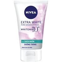 Sữa rửa mặt sạch nhờn dưỡng trắng Nivea Extra White 100g