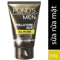 Sữa rửa mặt sạch sâu Pond's Men Pollution Out All-In-One Deep Cleanser 100g