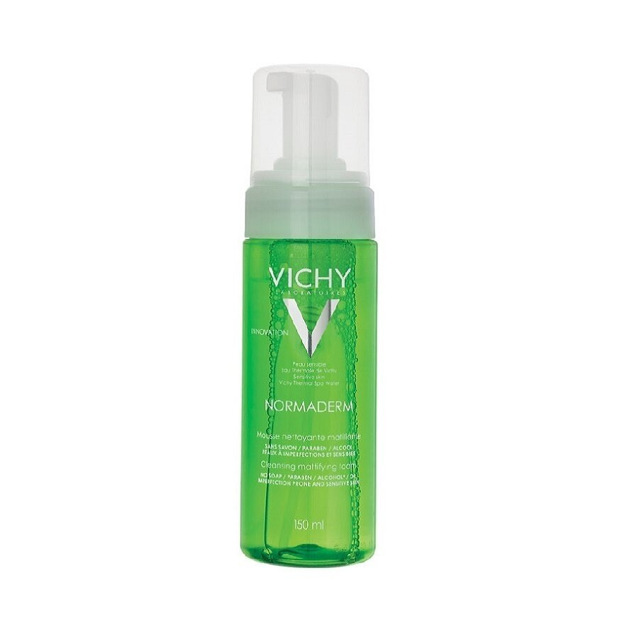 Sữa rửa mặt tạo bọt dạng mousse ngăn ngừa mụn và se nhỏ lỗ chân lông Vichy Normaderm 150ml