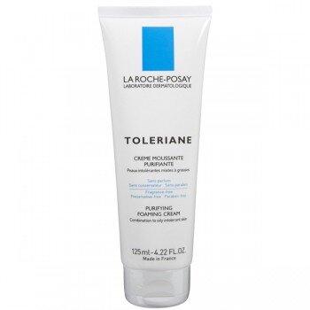 Sữa rửa mặt tạo bọt dành cho da hỗn hợp và da dầu quá nhạy cảm - Toleriane Purifying Foaming Cream - La Roche Posay - 125ml