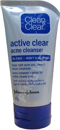 Sữa rửa mặt trị mụn Active clear acne cleanser 50g