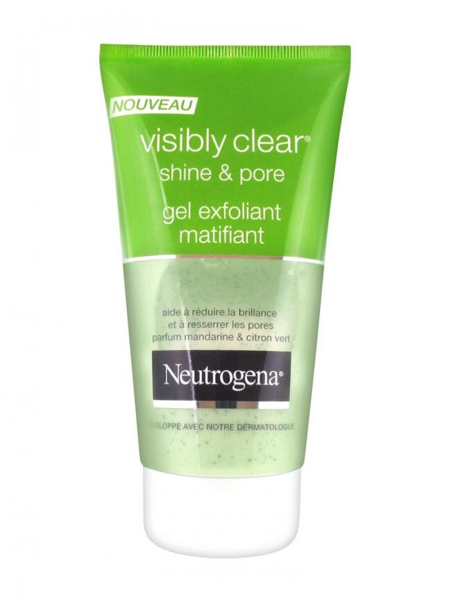 Sữa rửa mặt trị mụn Neutrogena Visibly Clear Shine & Pore Gel Exfoliant Matifiant 150ml