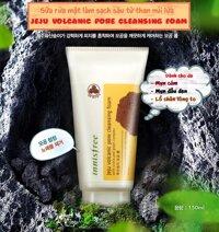 Sữa rửa mặt tro núi lửa Jeju Volcanic Pore Cleansing Foam Innisfree 150ml