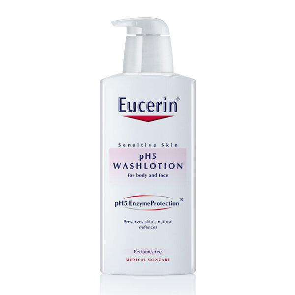 Sữa tắm dạng gel cho da nhạy cảm không mùi Eucerin pH5 Washlotion 400ml