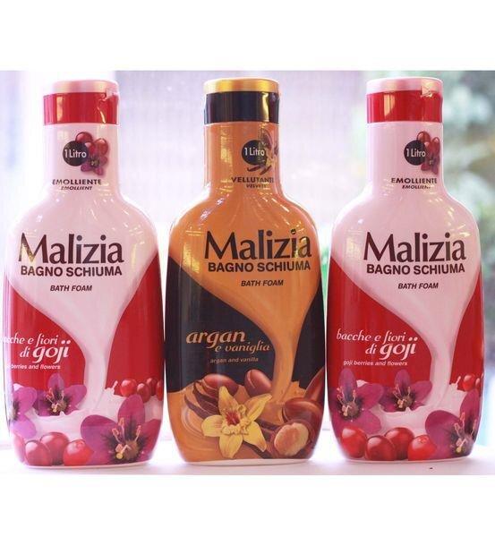 Sữa tắm dưỡng da cao cấp Malizia Italy 1000ml