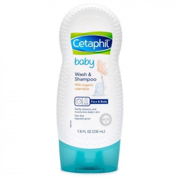 Sữa tắm gội cho bé Cetaphil Baby Wash Shampoo 230ml