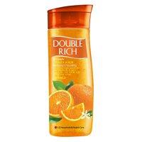 Sữa tắm hạt Double Rich hạt hương cam chai 420g