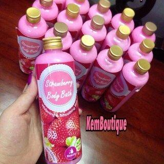 Sữa tắm trắng da Strawberry Body Bath 2in1