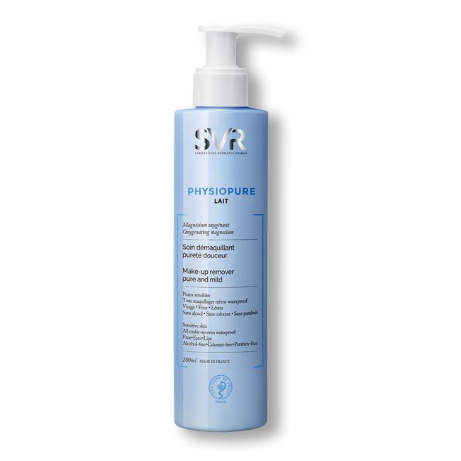 Sữa tẩy trang dành cho mặt, vùng mắt và môi SVR Physiopure Lait 200ml