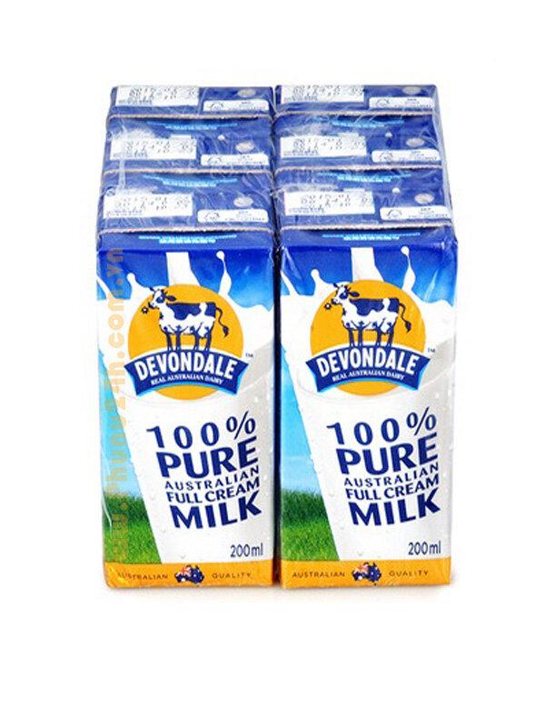 Sữa tươi Devondale nguyên kem - hộp 200ml (24 hộp/thùng)