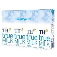Sữa tươi TH True Milk ít đường 180ml x 48 hộp