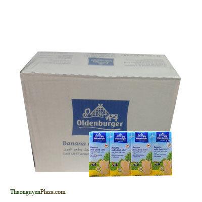 Sữa tươi tiệt trùng hương chuối Oldenburger - Thùng 6 lốc 4 x 200ml - (Sữa tươi ngoại)